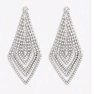 Statement Rhinestone Diamond Drop Earrings